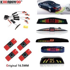 Image 1 - Оригинальный светодиодный датчик парковки Koorinwoo, автомобильный парковочный датчик, разноцветный набор, 4 зонда, автомобильный радар заднего хода, Парктроник, Индикатор оповещения