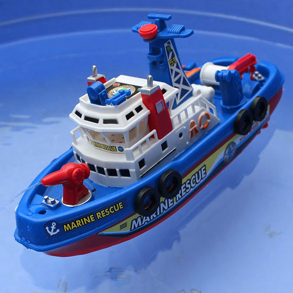 High Speed High Power Music Light Electric Marine Rescue Fire Fighting Boat Toy
