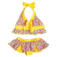 99e1f718f2a 2017 New Brand Child Girl Swimsuits Summer Girls Kids Swimsuit Kids Bikini  Set Bathing Suit Baby. 2 Colors Available