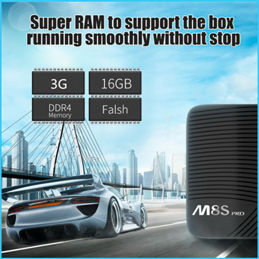 Prix pour 2017 Android 7.1 TV Box DDR4 MECOOL M8S PRO 3 GB 16 GB Amlogic S912 Octa Core UHD 4 K BT 4.1 2.4G/5G WiFi KODI Smart Set-top boîte