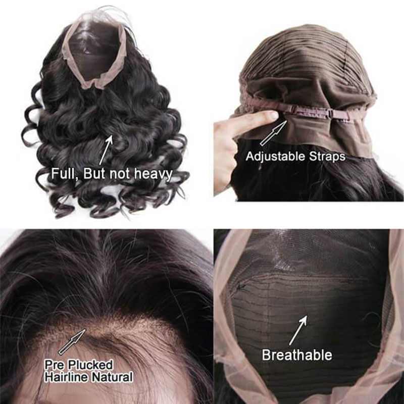 Hot Beauty Hair 360 Lace Frontal Wig Breathalbe Water Wave Wig Pre Pluck With Baby Hair Brazlian Remy 100% Human Hair Lace Wigs (5)