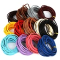 Dia 3mm 5Meters Round Genuine Leather Rope String Cord For Jewelry Making Bracelet Necklace Craft DIY Jewlery Findings