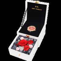 ZOTOONE Эквадор гигантская Роза свадебные украшения Пасха День святого Валентина роскошные макияж зеркало вечный сохраненный цветок подарочн