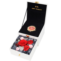 ZOTOONE Ecuador Giant Rose Wedding Decoration Easter Valentine's Day Luxury Makeup Mirror Everlasting Preserved Flower Gift Box
