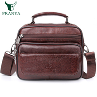 Genuine Leather Crossbody Bags For Men Casual Vintage And Fashion Designer Handbags High Quality Messenger Bag