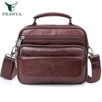 Genuine Leather Crossbody Bags For Men Casual Vintage And Fashion Designer Handbags High Quality Messenger Bag
