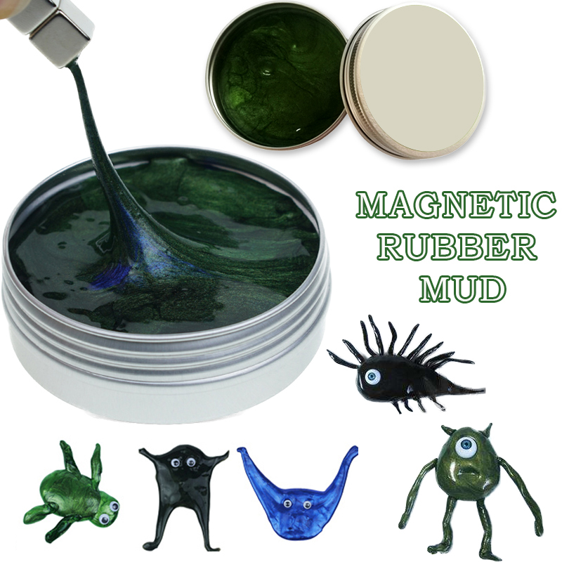 New Playdough Slime Magnetic Rubber Mud Plasticine Funny Putty Magneti Clay Jumping Magnets Novelty antistress toy slime toys mk 002 creative magnet plasticine toy super magnetic bouncing silly putty toy
