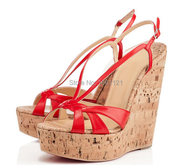 Wedge Ladies Red Ankle On Sandals Strap Mn08nvw Sale White Wedges Cork 35q4LAjR