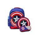 3 UNIDS Capitán América Para Niños Mochilas para niño chico mochila de Viaje encantadora niños mochilas niños mochila escolar