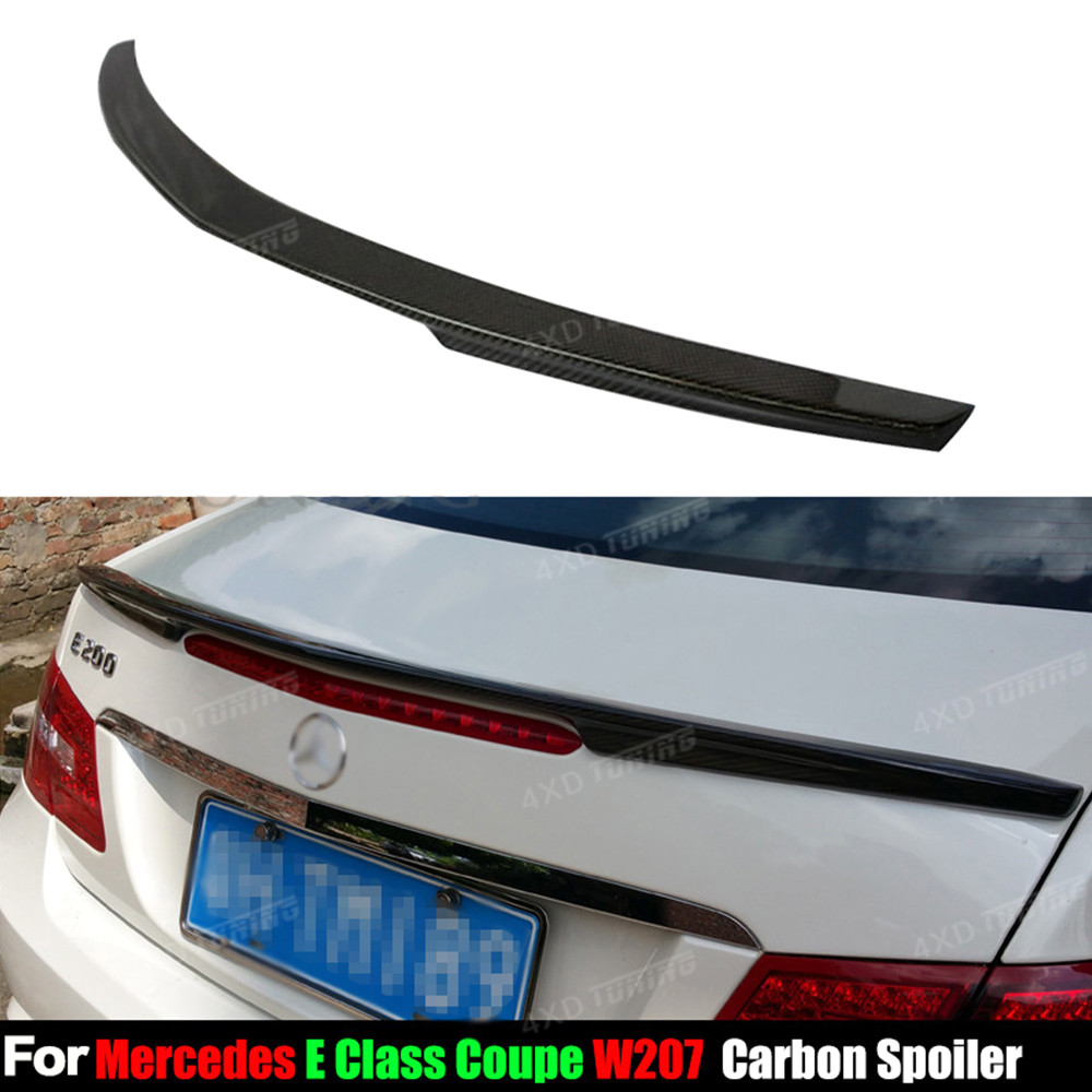 For Mercedes W207 Carbon Spoiler AMG Style Coupe E Class W207 C207 Carbon Fiber Rear Spoiler Rear Trunk Wing 2-doors 2010 - 2016