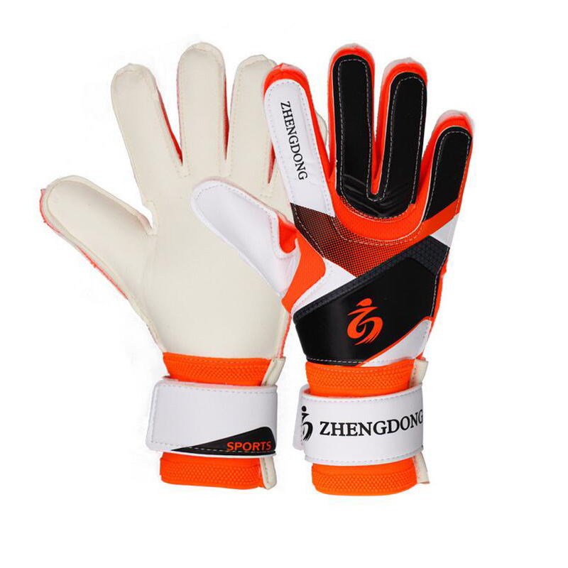 Kinder Neue Latex Fußball Torwart Handschuhe Erwachsene Männer Fußball Goalie Kits Trainings Handschuhe Keepers Finger Schutz Guantes Futbol image
