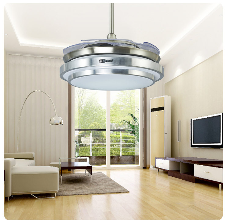 Brief style ceiling fan light LED light with hidden blades