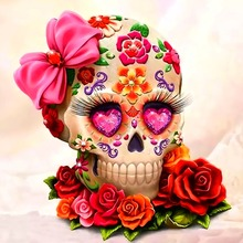 5d Diamond Painting Skull Rose Diy Embroidery Full Square Round Daimond Cross Stitch Home Decorations