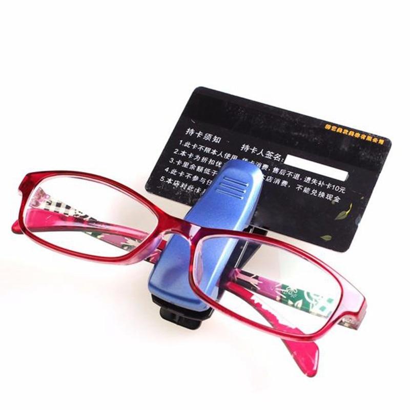 Car Styling Sun Visor Glasses Sunglasses Ticket Receipt Card Clip Storage Holder @004 auto trinket leather car sun visor sunglasses spectacles ticket receipt card clip storage holder for cars car styling au 08