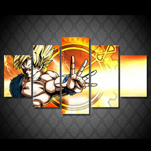hot deal buy 5 piece hd printed dragon ball z painting canvas print room decor print poster picture canvas (framed)