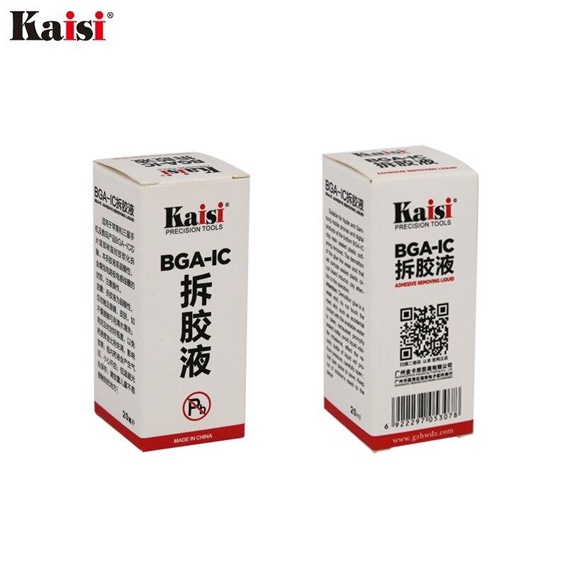 1 bouteille kaisi BGA IC Adhésif Colle Enlever Époxy Remover Cellulaire Téléphone CPU Puce Cleaner 20 ml Réparation Supprimer Liquide outil