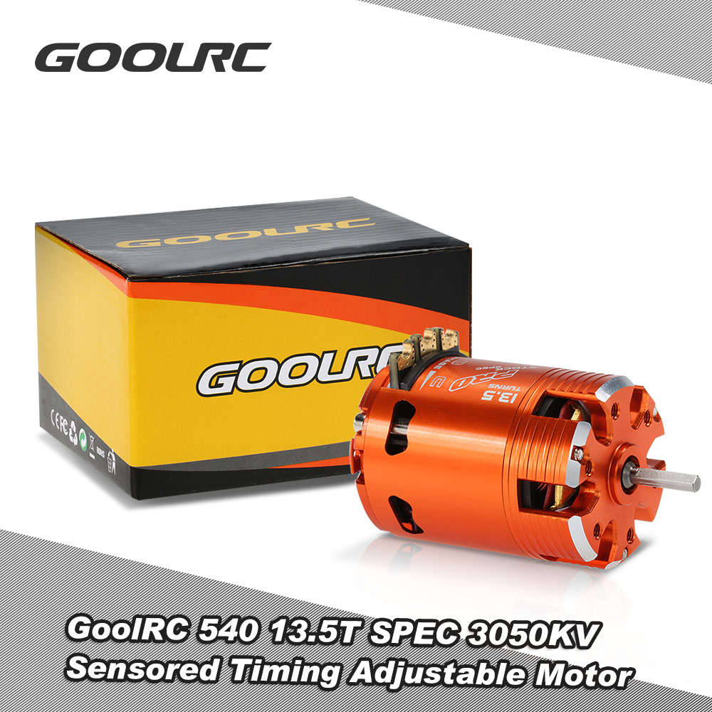 GoolRC 540 13.5T SPEC 3050KV Sensored Brushless Timing Adjustable Motor for 1/10 RC Car RC Racing Car Brushless Motor RC Cars hj 540 excellent motor w installation hole for 1 10 rc car