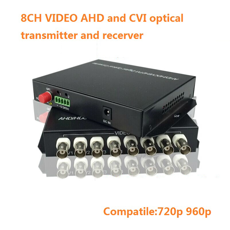 цена на Digital video optical 2-8 channel AHD DVI CVI Video Converter FC 20km fiber reverse RS485 data