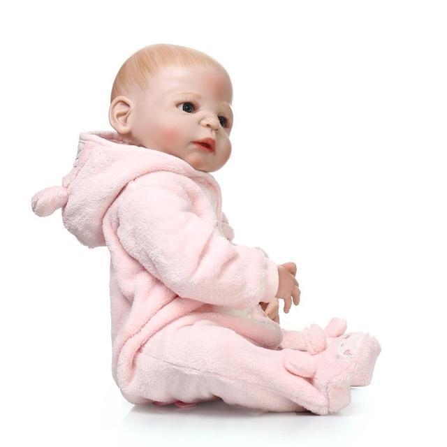 Recién Nacido lleno Cuerpo silicona bebe muñeca reborn 22 pulgadas vinilo  colección realista muñeca reborn bebé b75913aa09c7