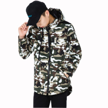 Men Jacket 2016 New Fashion Men's Hooded Jackets Autumn&Spring Zipper Male Casual Camouflage Windbreak Coat Plus size 2XL