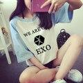 2016 Direct Selling New Regular Tumblr Blusa Exo Call Me Baby Album Tops Tees T-shirts Women's T Shirt Sleeved Cotton T-shirt