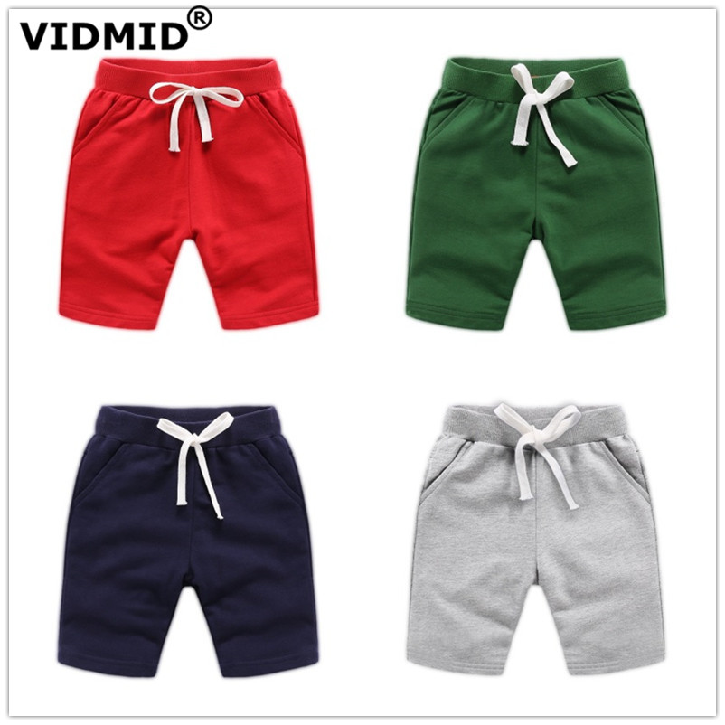 VIDMID Baby boys   shorts   colorful summer fashion cotton trousers kids boys solid beach   shorts   children's pants clothing 7060 04