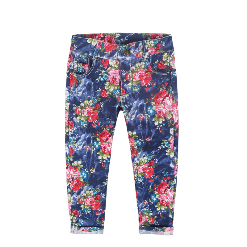 Autumn 2018 New Children Jeans Fashion Thin Section Girls Jeans For 2-8y Casual Children Denim Trousers Floral Baby Girls PantsAutumn 2018 New Children Jeans Fashion Thin Section Girls Jeans For 2-8y Casual Children Denim Trousers Floral Baby Girls Pants