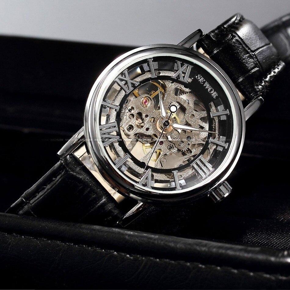 d15a5e7f523 Relógios Mecânicos homens casuais relógio moda relógios Profundidade de  Resistência a Água   Não à Prova