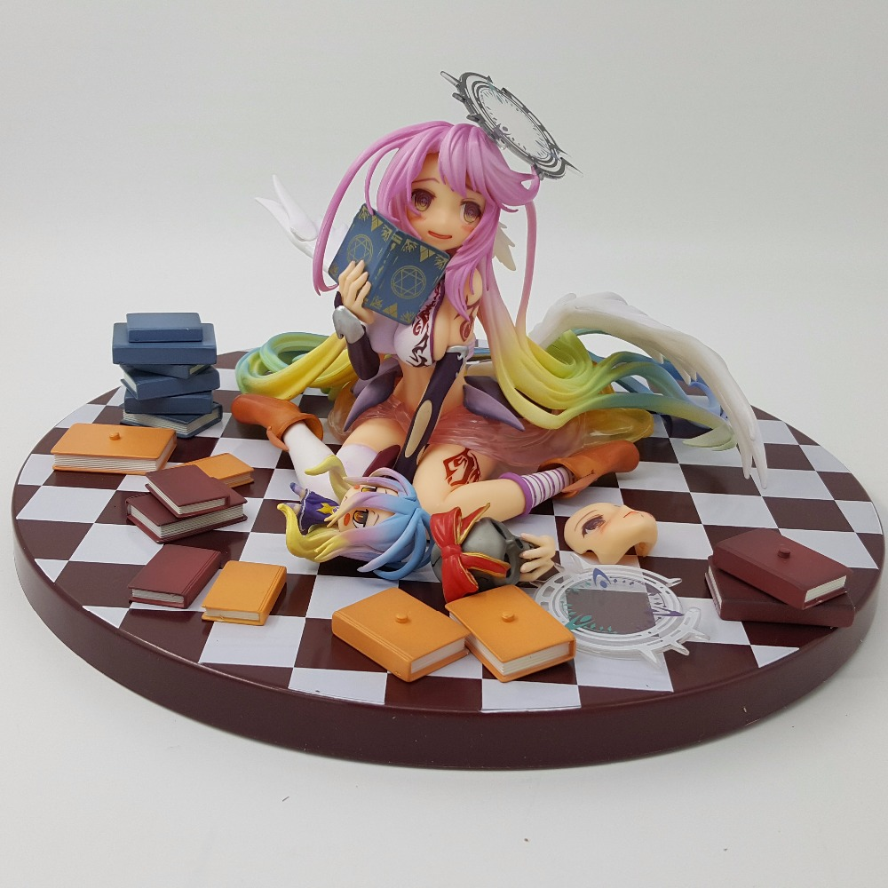No Game No Life Action Figures Angel Jibril Scale Complete PVC Model Collection Toy Game Of Life Toys Doll Gift 1 6 scale figure doll game of death bruce lee with nunchakus 12 action figures doll collectible figure model toy gift no box