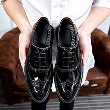 Hot Sale Man Oxford Italian Leather Shoes Brogue Style Men Wedding Dress Shoes Oxford Formal Shoes For Mens Business Footwear mycolen genuine leather brogue business formal dress men shoes classic office wedding mens shoes casual oxford italian