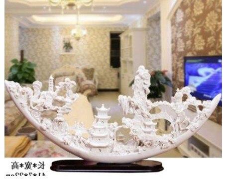 Accesorios de decoración para el hogar estante de sala de estar chino adornos de marfil artesanías gabinete de TV de vino Oficina suave habitación hogar