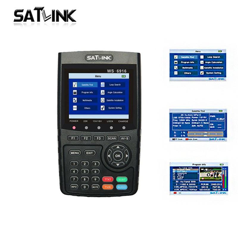 Hot Satlink WS-6916 satfinder dvb s2 DVB-S2 Satellite Finder Satellite meter MPEG-2/MPEG-4 Satlink WS 6916 pk 6906 hot satlink ws 6916 satfinder dvb s2 dvb s2 satellite finder satellite meter mpeg 2 mpeg 4 satlink ws 6916 pk 6906