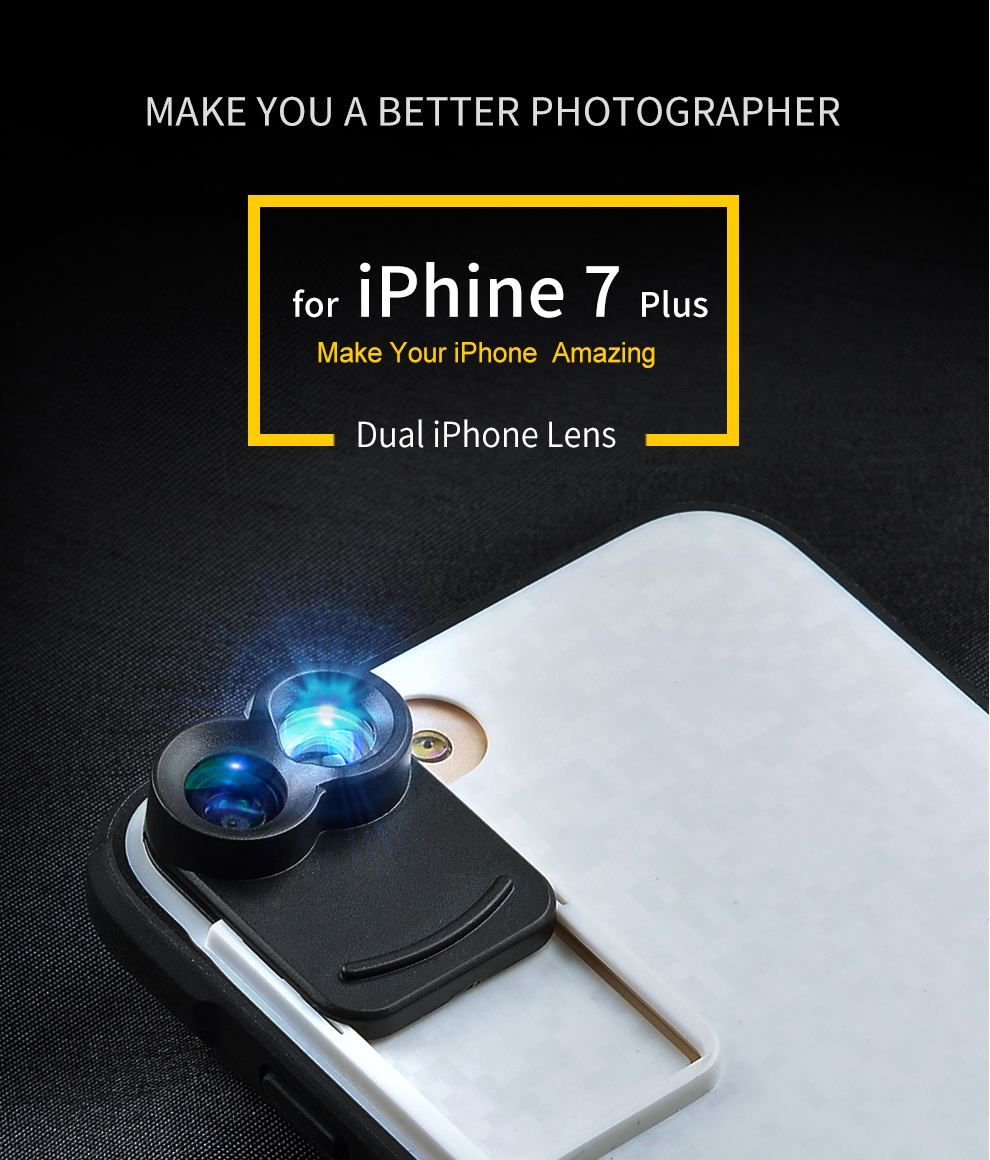 APEXEL Professional mobile phone lens just For iPhone 7 plus case fisheye iphone camera lens for mobile iphone 7 plus 13