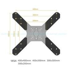 TV montagem VESA de Extensão Adaptador de 200x200mm para 400x400mm para Montar TV e Monitor de titular