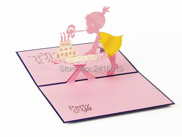 Freeshipping 5pclot 10x15cm Handmade Exquisite 3d Foldup Party