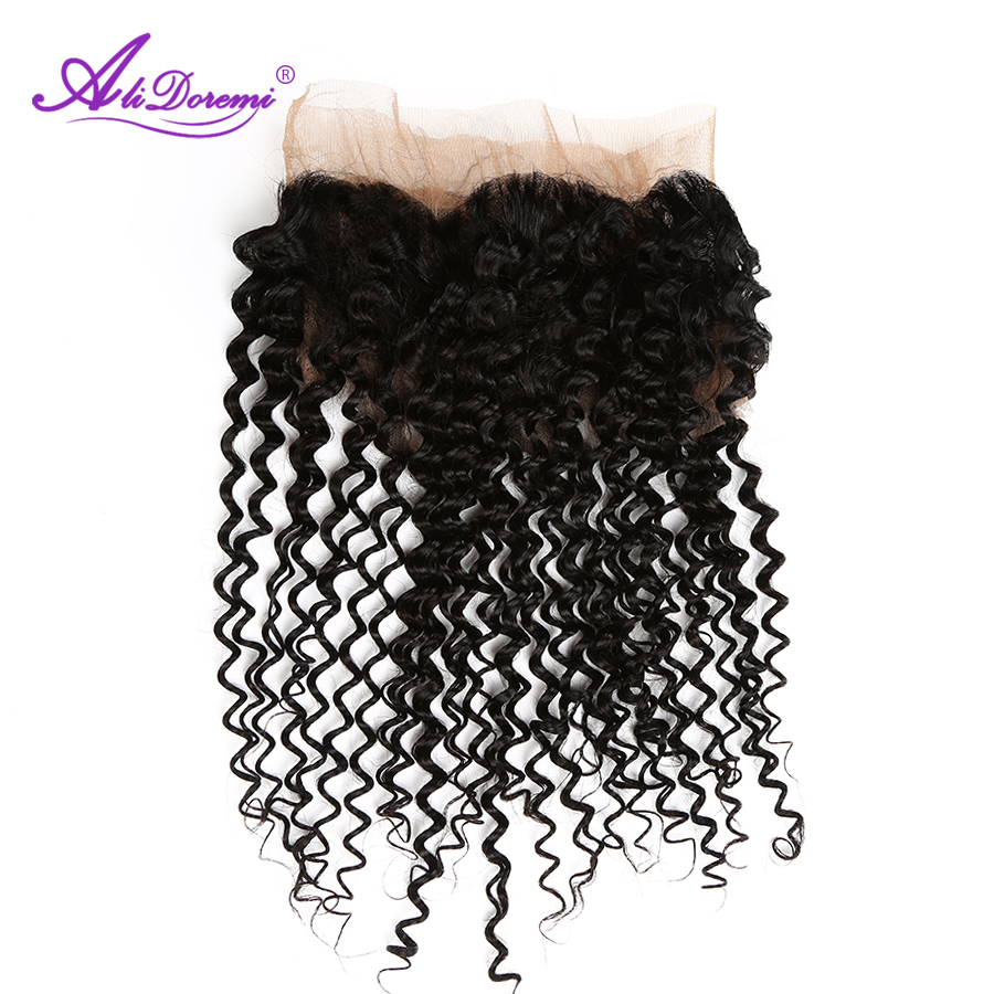 Alidoremi Brazilian Deep Wave 360 Lace Frontal Natural Color 12-20inch 100% Non-Remy Human Hair Free Shipping ...