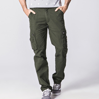 The New Four Seasons Fashion Leisure Youth Popular Male Mochi Pure Color Uniform Pants Men Tooling