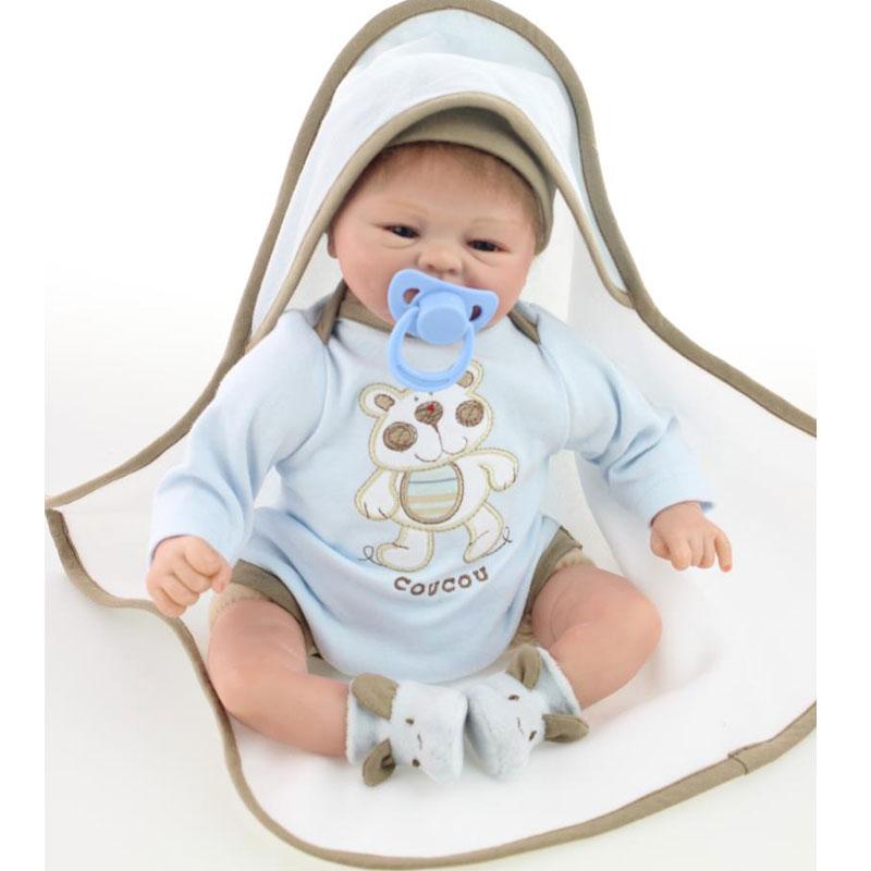 ФОТО 45cm Doll Kawaii 17inch Silicone Reborn Dolls Newborn Lifelike BeBe Reborn Baby Toys Realista For Kids Birthday Gift Brinquedos