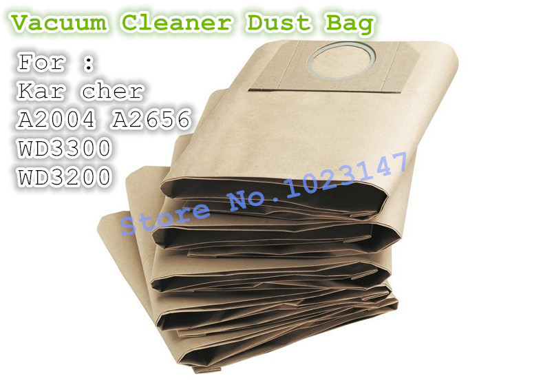 (5 pieces/lot ) Vacuum Cleaner Bags Dust Bag Filter Paper Bag For Karcher A2204 A2656 SE4001 WD3200 WD3300 цена 2017