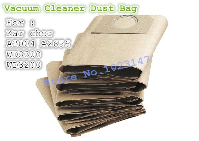(5 Teile/los) Staubsauger Taschen Staubbeutel Filter Papiertüte Für Karcher A2204 A2656 Se4001 Wd3200 Wd3300 Klar Und GroßArtig In Der Art