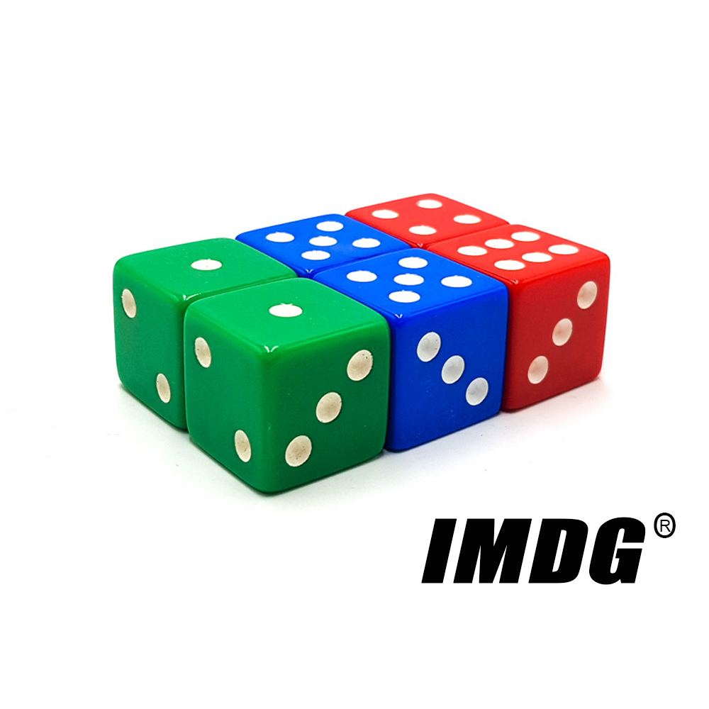 Set of 10,Red Dice,D6,six-side 16 mm Red with white pips dice,1.6CM
