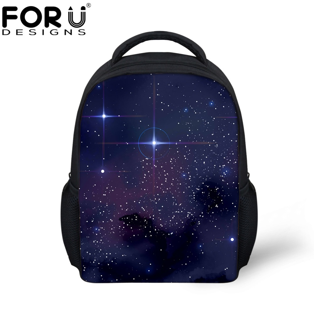 FORUDESIGNS 3D Galaxy Space Star Prints Backpack for Kindergarten Baby Girls Boys Children Mini Schoolbags Kids Bags Bagpack