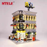 Kit de lumière LED de marque MTELE pour blocs Grand Emporium Compatible avec 10211 pour cadeau de noël pour enfants (non inclus le modèle)