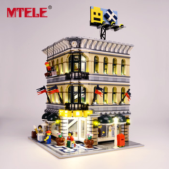 MTELE Brand LED Light Up Kit For Grand Emporium Blocks Compatible With 10211 For Kids Christmas Gift (Not include the model) цена 2017