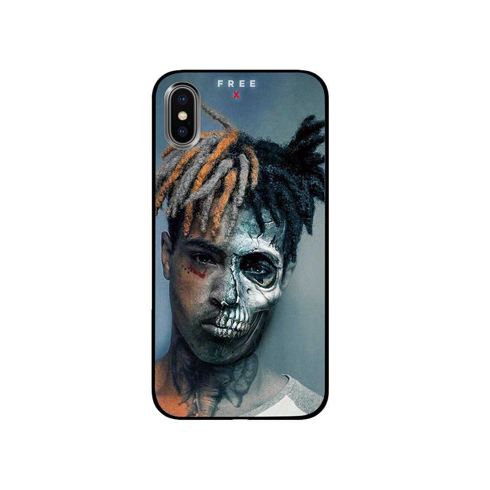 XXXTentacion MC الفن الأسود TPU الفاخرة حالات الغطاء عن اي فون 5 5 S SE 6 6 s 7 8 زائد X XS ماكس XR