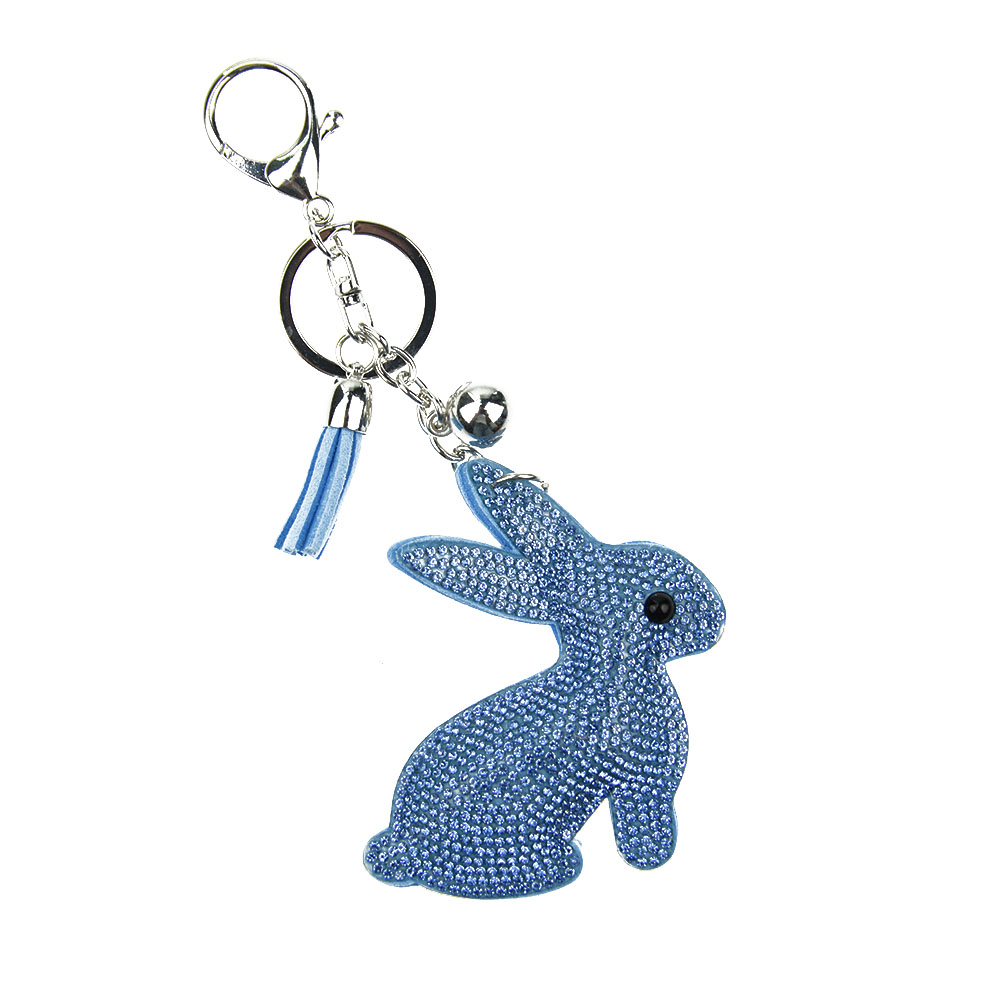 1PC Trendy Cute Women Girls Lovely Rhinestone Bunny <font><b>Cell</b></font> <font><b>Phone</b></font> <font><b>Car</b></font> Rabbit Keychain Key Ring Hand Bag <font><b>Accessory</b></font>