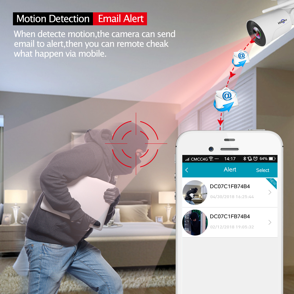 Image 3 - IP Camera wi fi PTZ Bullet 4X Zoom 1080P IP Speed dome CCTV camera Project Night Vision Outdoor Waterproof IP66 IRCUT P2P Hiseeu-in Surveillance Cameras from Security & Protection