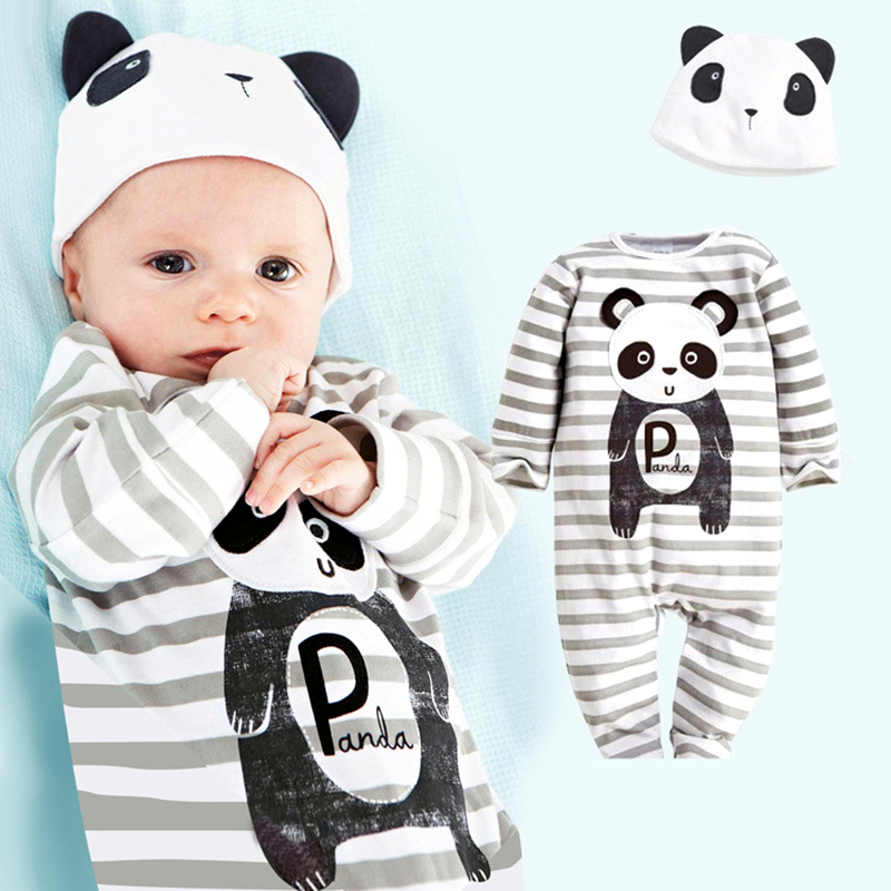 Newborn Baby's Sets 3pcs Summer Casual Cotton Boys Clothes Cartoon Mickey Long Sleeve Bodysuits+Pants+Hat Baby Girls Clothing 1