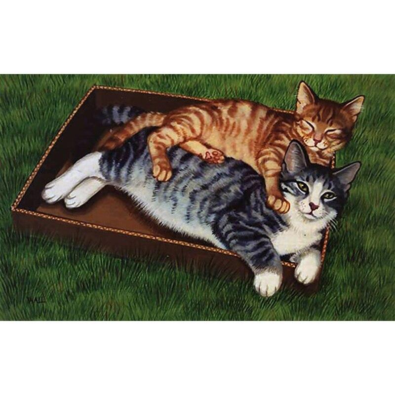 H2321 diamond painting rhinestone,diy diamond mosaic,diamond embroider Two cats