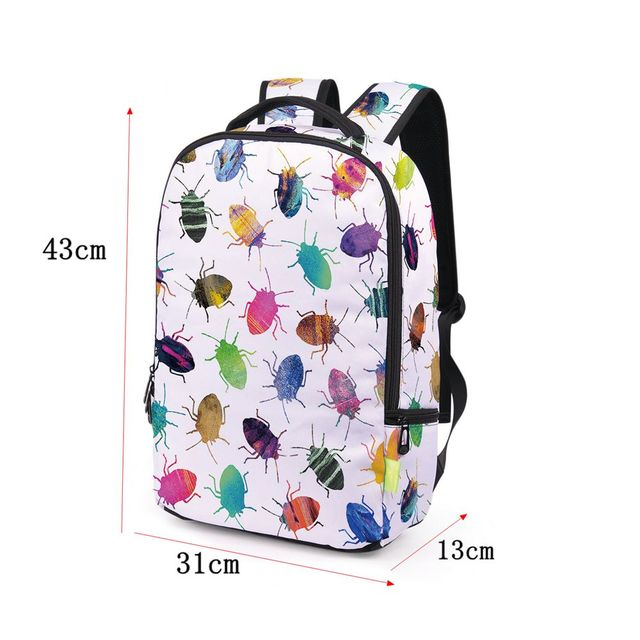 327fb983da 1PC Women Men 3D Galaxy Travel Satchel Fashion Backpack Shoulder Bookbag  Rainbow School Bag smooth zippers